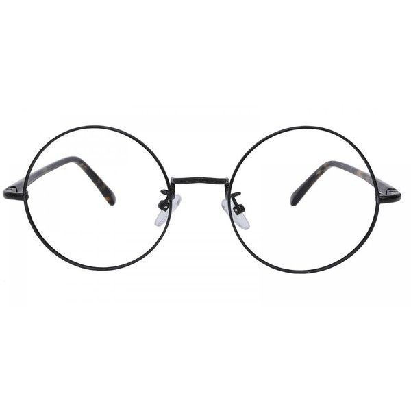 Bruns Round Black Eyeglasses (46 CAD) ❤ liked on Polyvore featuring accessories, eyewear, eyeglasses, round glasses, rounded glasses, round eyeglasses, round eye glasses and round eyewear