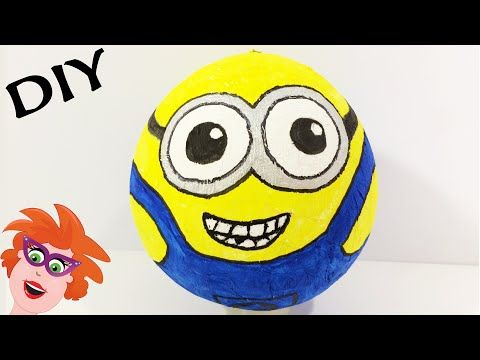 DIY Paper Mache Minions knutselen - YouTube