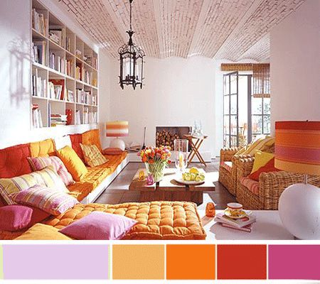 7 Purple Pink Interior Color Schemes For Spring Decorating Via Home