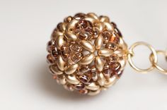 FREE Beaded Bead Pattern BEADED MARBLES made with Twin beads. From Preciosa-Ornela  ~ Seed Bead Tutorials