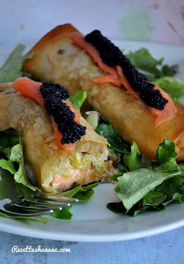 Feuilletés de saumon au poireaux