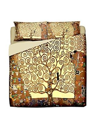 Tele d'autore by MANIFATTURE COTONIERE Juego De Funda Nórdica (Oro / Multicolor)