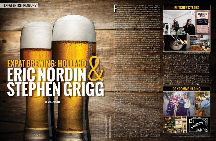Expat Brewing: Holland : Global Living Magazine www.globallivingmagazine.com | #expats #beer #brewing #holland #travel