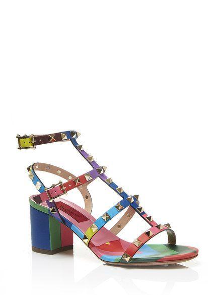 Valentino Rockstud Heeled Sandal