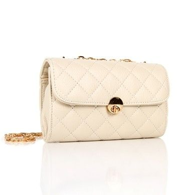 BeigeGold Quilted Bag