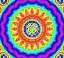 Rainbow Blossom Mandala von Vandarque