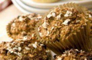 Recette - Muffins aux pommes et aux flocons d'avoine - Proposée par 750 grammes