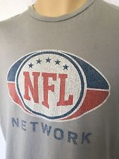 NFL Network Logo Men's Short Sleeve T-Shirt Lt.Gray M Made in USA Pro Football