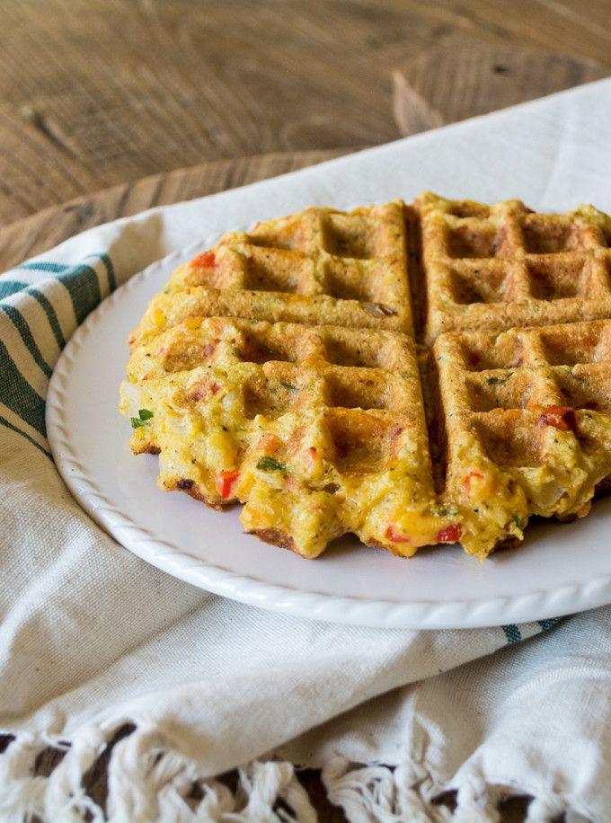 Gluten Free Savory Cornbread Waffles   Lemons and Basil