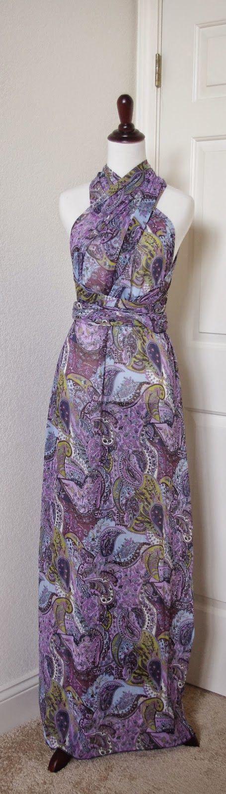 SewPetiteGal: Easy Infinity Maxi Dress DIY Tutorial