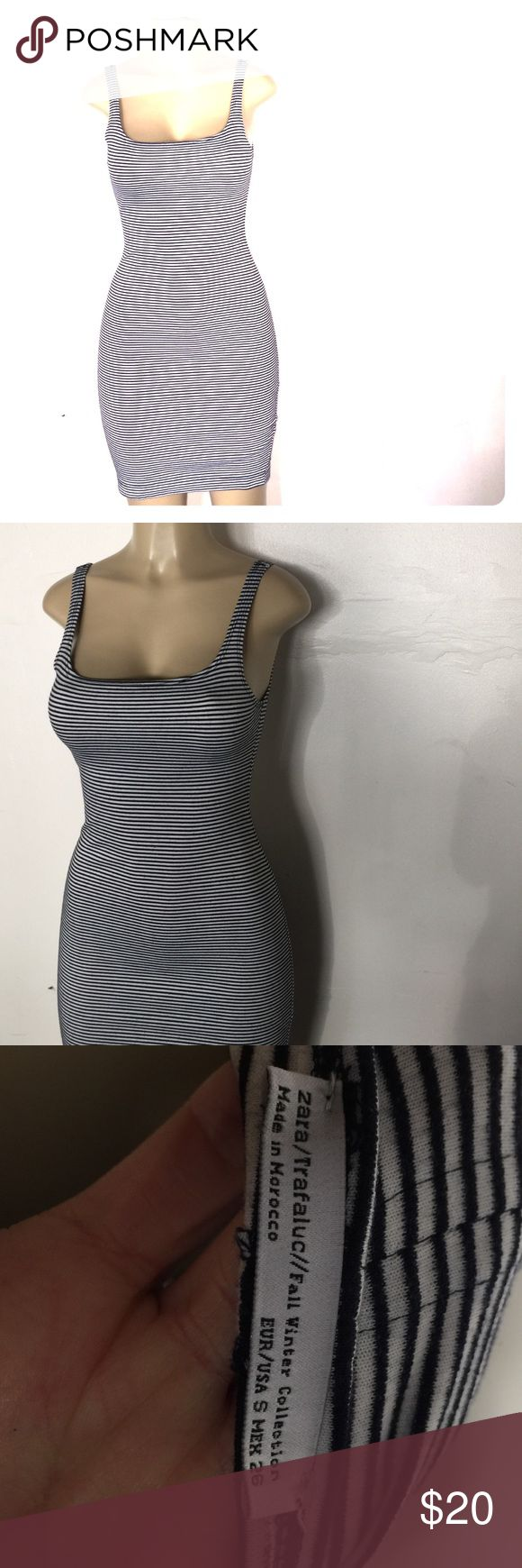 Zara Striped Mini Dress Navy and white stripe Zara dress. Perfect condition. Size small. Feel free to ask questions. No holds & No Trades Zara Dresses Mini