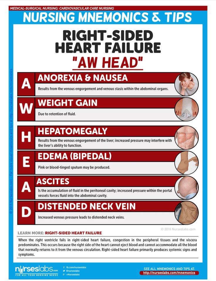 Rightsized heart failure AW HEAD Nursing school tips