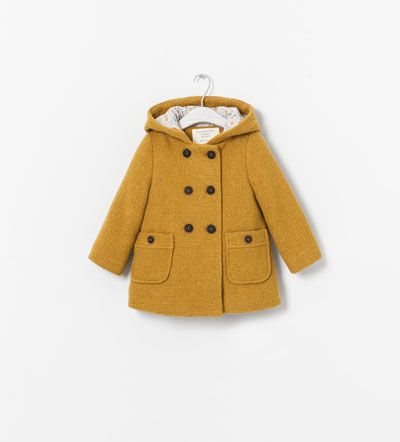 COAT WITH HOOD AND PRINTED LINING - Coats - Baby girl (3 - 36 months) - KIDS | ZARA United Kingdom