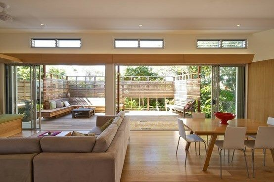 This really utilises the space increase provided by the opening into the garden.
