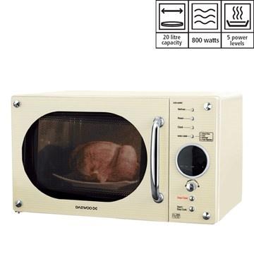 Daewoo Solo Cream Microwave | Green | Kitchenware & Appliances | Kitchen | Homeware | homeshopping.24ace.co.uk