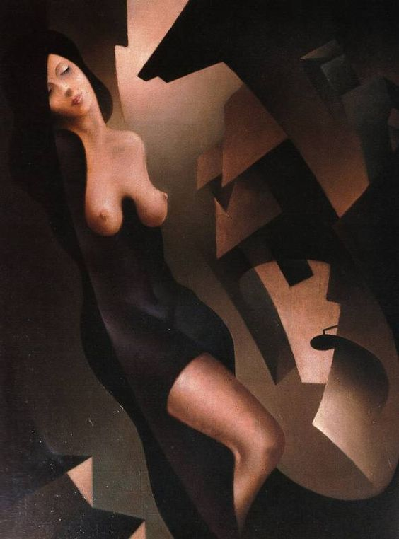 Futurista :Tullio Crali crepúsculo de la tarde  1937