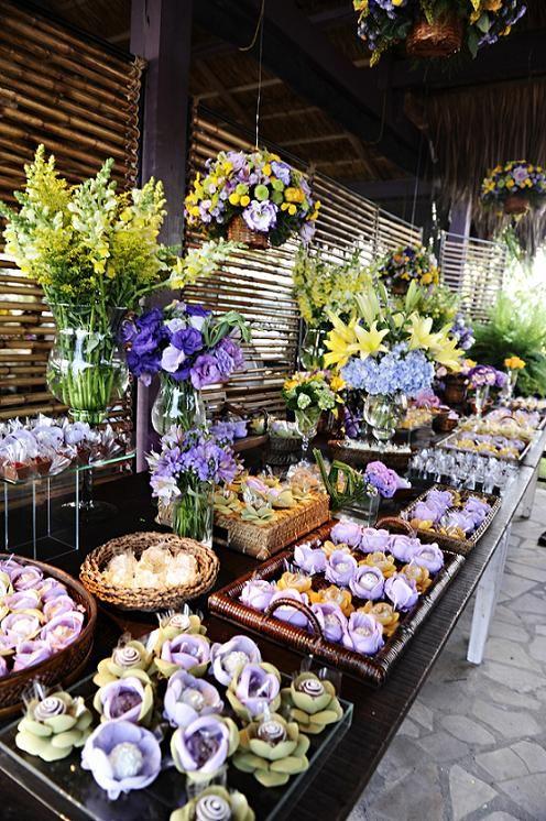 Decoração de Casamento Amarelo e Lilás  Noivinhas de Luxo