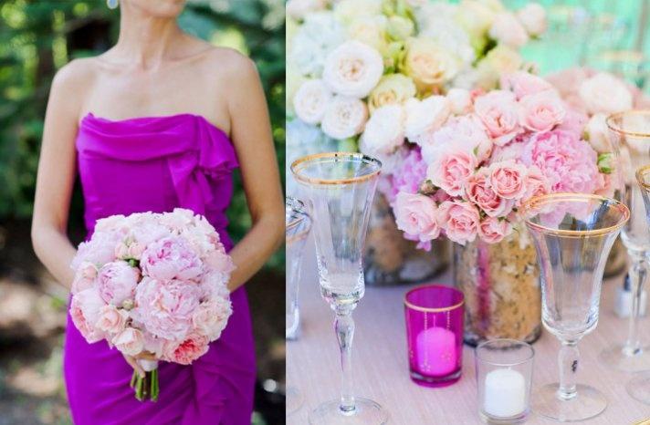 magenta bridesmaid dress