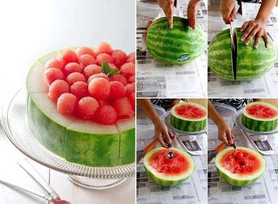 Watermelon Scoop cake