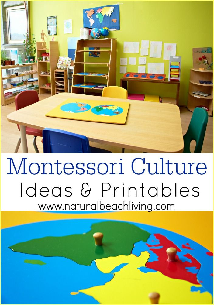 montessori culture materials Montessori materials are meant to be self-correcting, which helps your  the  cultural studies area is where your children will learn about the.