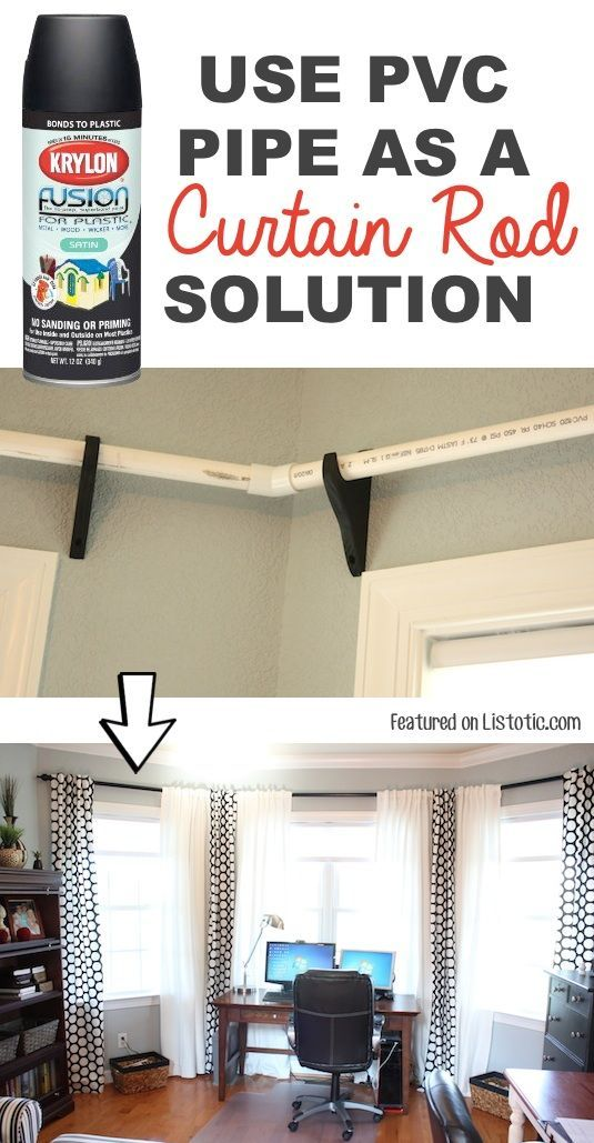 184 best Upcycling and DIY images on Pinterest   Creative ideas     Use PVC pipe to make low cost curtiain rods