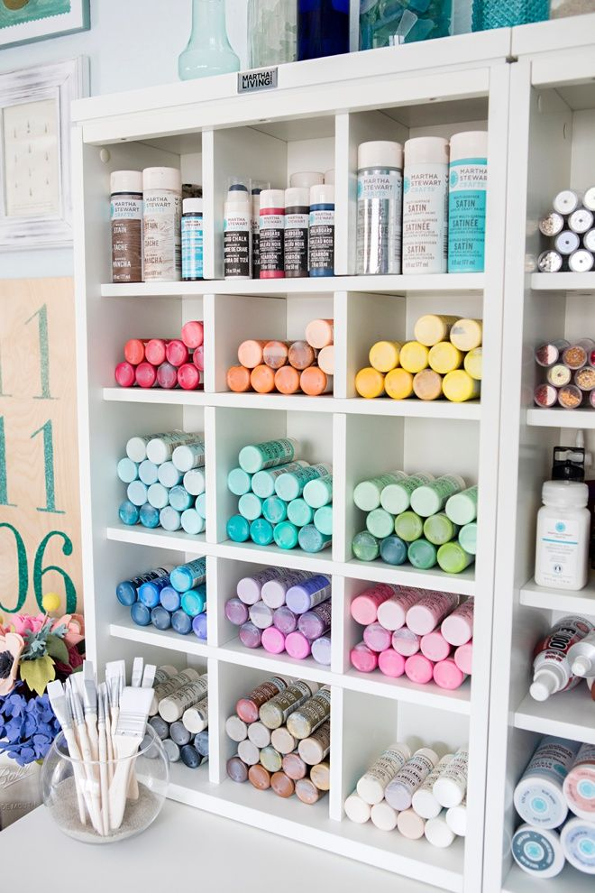 Best 20 craft paint storage ideas on pinterest acrylic for How to organize a small room