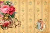 romantische vintage retro achtergrond met rozen stock photography
