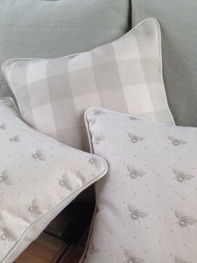 Fab cushions in Peiny Sage fabrics