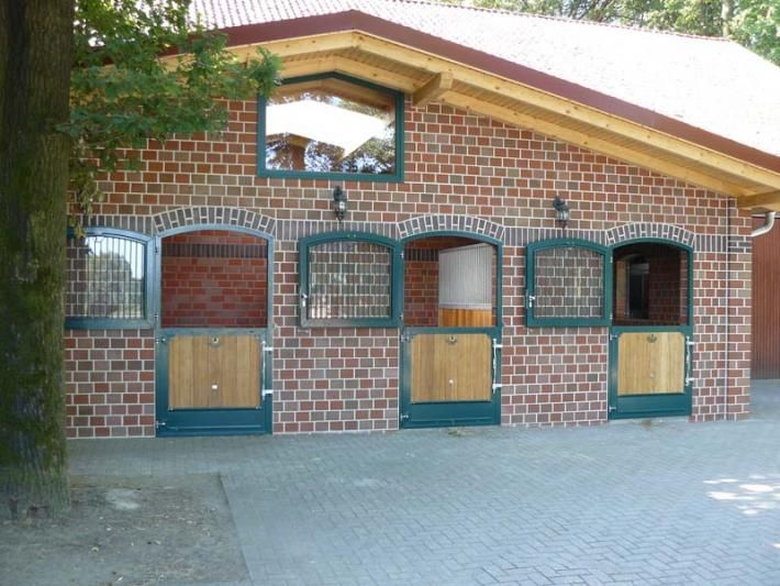 Brick gable stable block, Germany