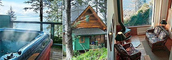 Twinberry cabin at Point-No-Point resort in Sooke is our favorite March getaway.