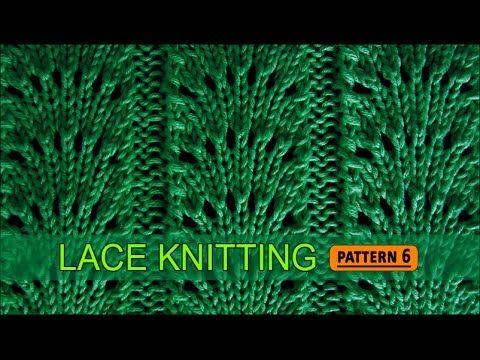 Vidéo en anglais.Fan Flare Stitch | Lace Knitting Pattern #6