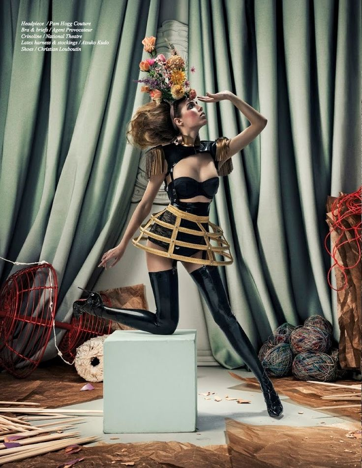 Amber le Bon by Aorta for Schön! #25 ~ Atsudo Kudo lingerie ~ Styled by Kari Hirvonen