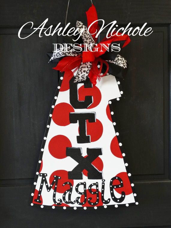 Megaphone Door Hanger Door Decoration by DesignsAshleyNichole
