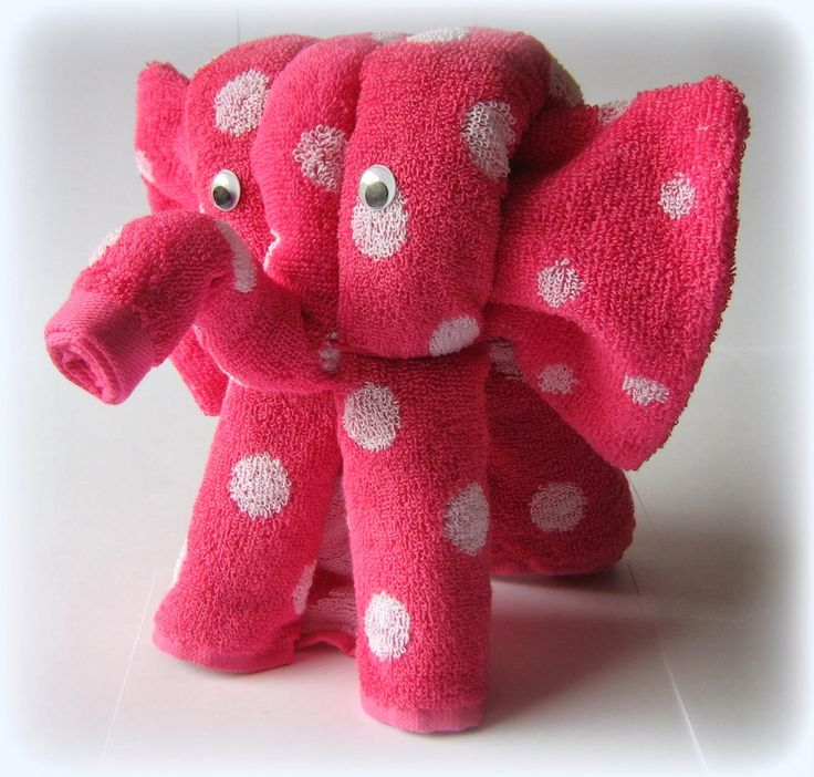 Tutorial olifantje van handdoeken vouwen