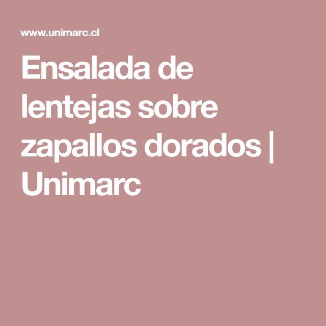 Ensalada de lentejas sobre zapallos dorados  |  Unimarc