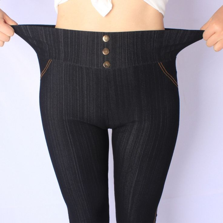 2017 New Arrival Spring and Autumn style High Quality Super elastic Denim soft cotton 5XL Plus size leggings women pants