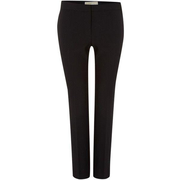 Michael Kors Cropped Flared Trousers ($160) ❤ liked on Polyvore featuring pants, capris, black, women, black flare pants, black flared pants, stretch pants, cropped pants and stretchy pants