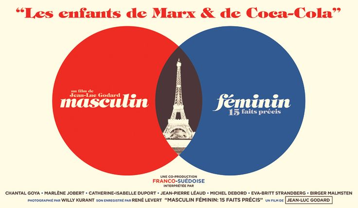 Poster for a local art show. The theme was the 60's so I decided to do my own rendition of the Masculin Feminin poster by Godard.