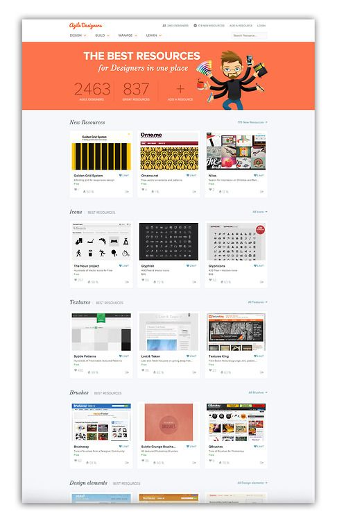This site is a GREAT resource for web designers, graphic designers and freelancers. Agile Designers collected hundreds of resources ranging from texture websites to project management tools to training sites all in a visual and easy to navigate site. [via Zoe Rooney]