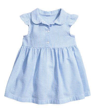 Cotton dress | Blue/White striped | Kids | H&M AU - size 1