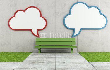 Two blank cloud billboard in a street