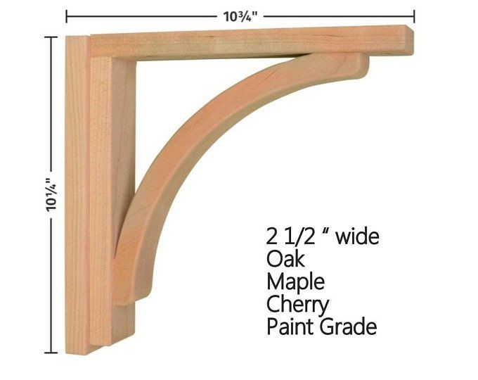 BRACKETS sold individually LARGE RUSTIC FARMHOUSE CORBELS