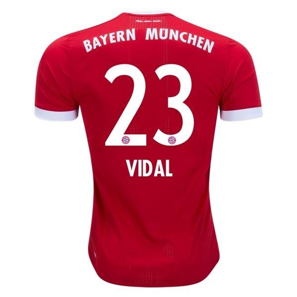 adidas Arturo Vidal Bayern Munich Authentic Home Jersey 17/18