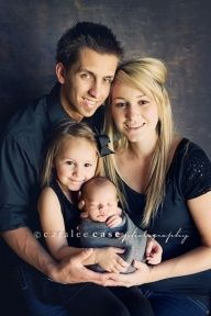 Newborn Picture Ideas With Siblings | family portrait with newborn and sibling