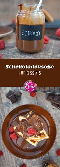 Leckere Schokoladensoße für süße Desserts! Schmeckt super in Kombination mit warmen Waffeln!
