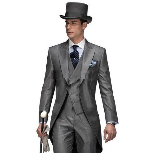M17 2014 nouvelle conception matin style maximale de revers smokings de marié de garçons d'honneur hommes \ \ \'s costumes de mariage meilleur homme ...