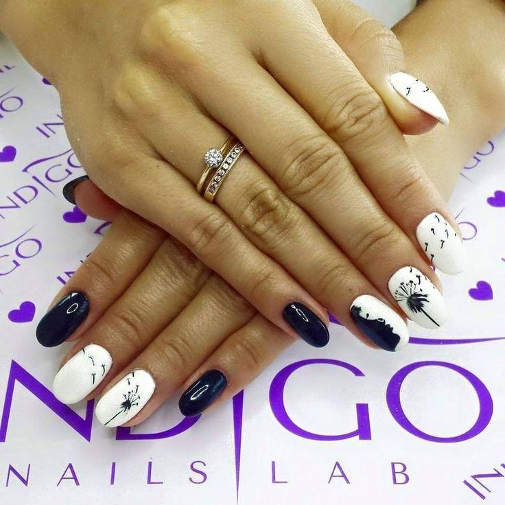 by Agata Kaczmarek Indigo Young Team :) Find more inspiration at www.indigo-nails.com #nailart #nails #indigo #black #white