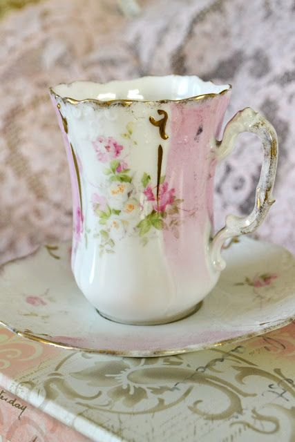 sweet chocolate cupVintage Teacups, Teas Time, Rose Tea, Teas Cups, Pale Pink, Vintage Teas, Coffee Cups, Vintage China, Pink Rose