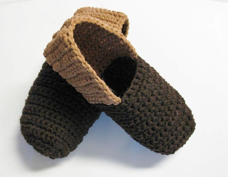 Pantoufles faciles au crochet pour hommes