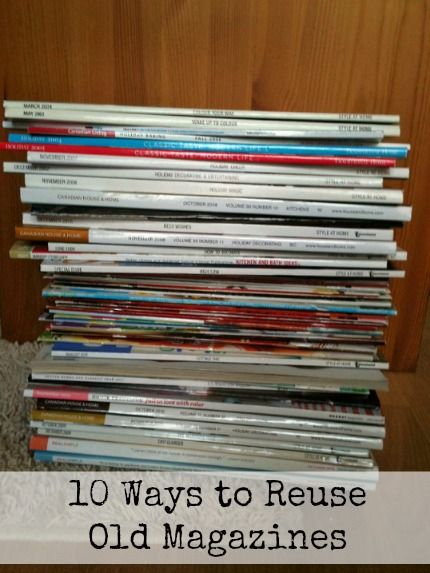 Have you got a pile of magazines laying around that you know you should recycle or donate?  Before you do that, check out my list of 10 uses for old magazines! Cupboard liners - Line above your kitchen cupboards with pages to protect from the dust, then...